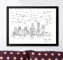 Load image into Gallery viewer, Louisville Wedding Alternative Guest Book, Louisville Skyline, Guestbook, Wedding Guestbook, Louisville, KY,  Louisville Wedding, Kentucky