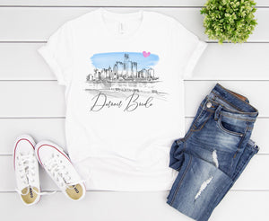 Detroit Bride Shirt, T-Shirt, Detroit Skyline, Michigan Bride, Wedding Shirt, Bride, Bridal Shower Gift, Bachelorette, Gift, Tee