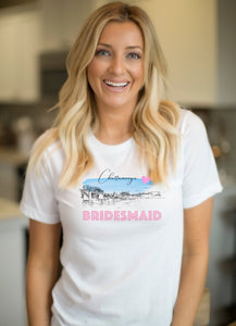 Chattanooga Bridesmaid Shirt, T-Shirt, Chattanooga, TN Skyline, Bride Tee, Wedding Shirt, Bride, Bridal Shower Gift, Bachelorette, Gift, Tee