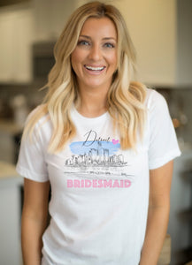 Detroit Bridesmaid Shirt, T-Shirt, Detroit Skyline, Michigan Bride, Wedding Shirt, Bride, Bridal Shower Gift, Bachelorette, Gift, Tee