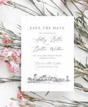 Load image into Gallery viewer, Richmond, VA Save the Dates, STD, Wedding, Richmond Skyline, Virginia, Save the Date Cards, STD Card, Save our date (set of 25 cards)