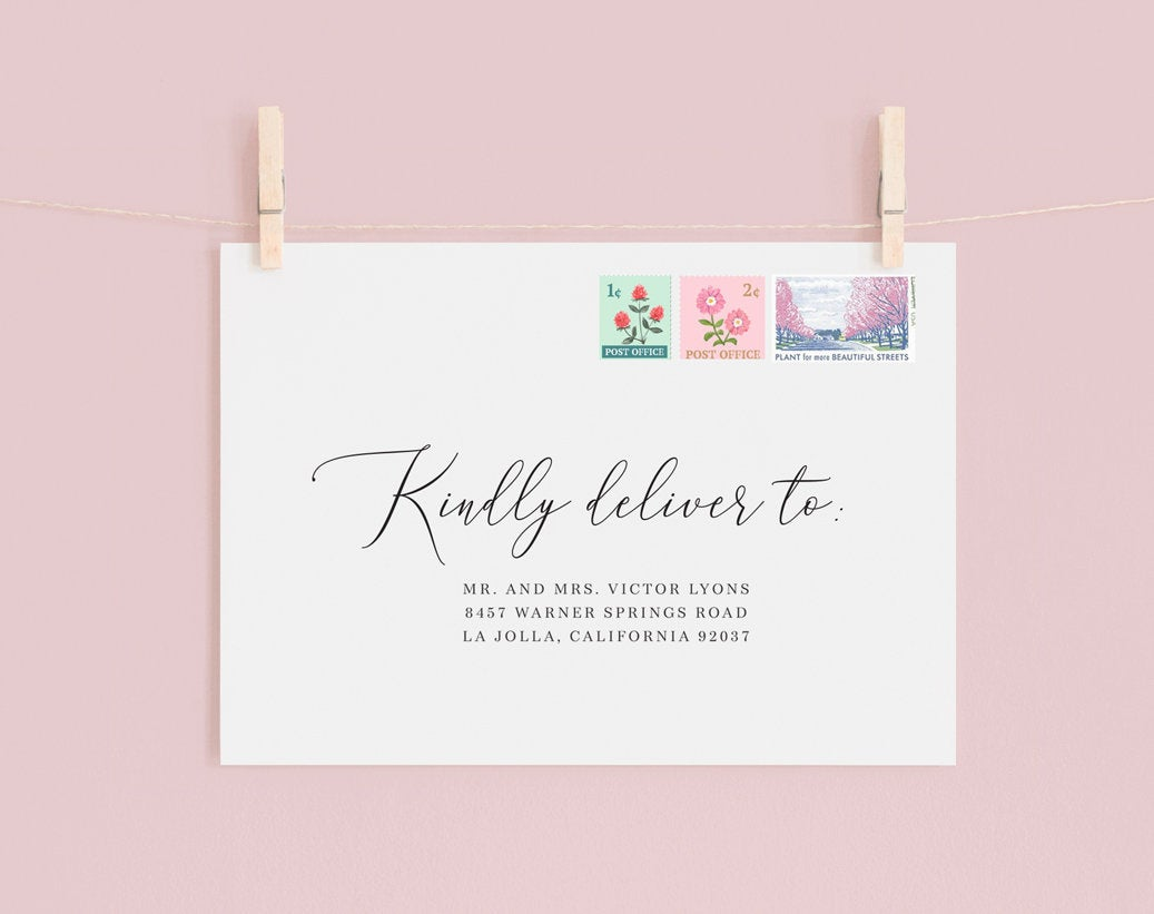 Envelope Guest Addressing for Save the Dates, STD, Save the Date Cards, Wedding Invitations,  Rehearsal Dinner Invites (Sold in sets of 25)