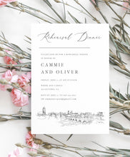 Load image into Gallery viewer, Rehearsal Dinner Invitations Allentown, PA, Pennsylvania, wedding, pa wedding, Weddings, Rehearse, Invite (set of 25 cards)