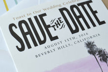Load image into Gallery viewer, Beverly Hills Skyline Save the Date Cards (set of 25 cards)