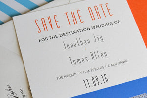 Parker Hotel Palm Springs Destination Wedding Save the Date Cards (set of 25 cards)