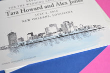 Load image into Gallery viewer, New Orleans Skyline Watercolor & Hand Drawn Save the Date Cards (set of 25 cards)