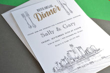 Load image into Gallery viewer, Detroit Skyline Rehearsal Dinner Invitation Cards (set of 25 cards)