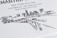 Load image into Gallery viewer, Austin Skyline Rehearsal Dinner Invitation Cards (set of 25 cards)