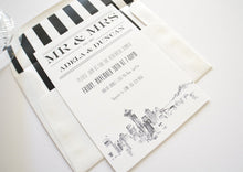 Load image into Gallery viewer, Seattle Skyline Rehearsal Dinner Invitations (set of 25 cards)