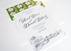 Hilo Hawaii Destination Wedding Invitation Package (Sold in Sets of 10 Invitations, RSVP Cards + Envelopes)