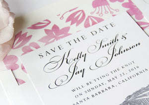 Santa Barbara Pier Skyline Save the Date Cards (set of 25 cards and white envelopes)
