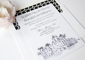 The Mission Inn Hotel and Spa, Riverside Wedding Invitation Package (Sold in Sets of 10 Invitations, RSVP Cards + Envelopes)