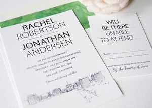 San Jose Skyline Wedding Invitation Package (Sold in Sets of 10 Invitations, RSVP Cards + Envelopes)