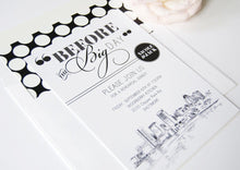 Load image into Gallery viewer, Baltimore Skyline Rehearsal Dinner Invitations (set of 25 cards)