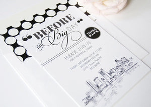 Baltimore Skyline Rehearsal Dinner Invitations (set of 25 cards)