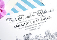 Load image into Gallery viewer, Columbus, Ohio Skyline Rehearsal Dinner Invitations (set of 25 cards)