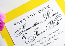 Load image into Gallery viewer, Columbus, Ohio Skyline Save the Dates, Columbus Wedding, Ohio, Save the Date, Columbus Save the Date Cards, STD (set of 25 cards, envelopes)