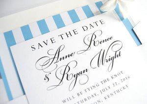 Lexington, Kentucky Wedding Save the Date Cards, Skyline Save the Dates (set of 25 cards and white envelopes)