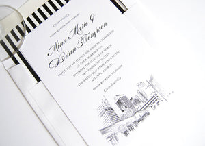 Atlanta, Georgia Skyline Wedding Invitations Package (Sold in Sets of 10 Invitations, RSVP Cards + Envelopes)