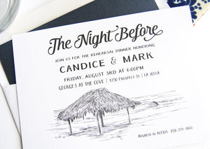 La Jolla, Windansea Beach Weddings Skyline Rehearsal Dinner Invitations (set of 25 cards)