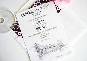 New York Skyline Rehearsal Dinner Invitations (set of 25 cards)