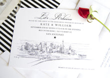 Load image into Gallery viewer, San Antonio, Texas Skyline Rehearsal Dinner Invitations (set of 25 cards)