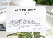 Load image into Gallery viewer, San Antonio Skyline Folded Place Cards (Set of 25 Cards)