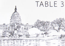Load image into Gallery viewer, Washington DC Skyline Folded Place Cards (Set of 25 Cards)