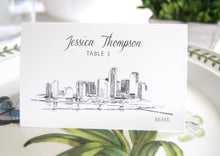 Load image into Gallery viewer, Miami Skyline Folded Place Cards (Set of 25 Cards)