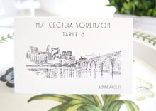 Load image into Gallery viewer, Minneapolis Skyline Folded Place Cards (Set of 25 Cards)