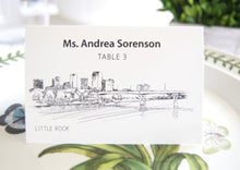 Load image into Gallery viewer, Little Rock Skyline Folded Place Cards (Set of 25 Cards)