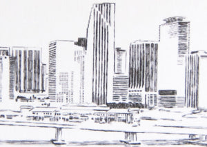 Miami Skyline Folded Place Cards (Set of 25 Cards)