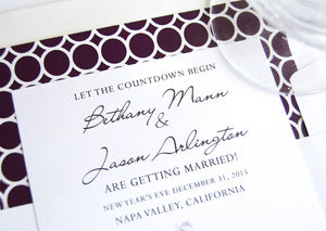 Napa Valley Skyline Hand Drawn Save the Date Cards (set of 25 cards)