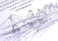 Load image into Gallery viewer, Pittsburgh Skyline Rehearsal Dinner Invitations (set of 25 cards)