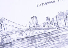 Load image into Gallery viewer, Pittsburgh Skyline Wedding Invitations Package (Sold in Sets of 10 Invitations, RSVP Cards + Envelopes)