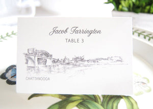 Chattanooga Skyline Folded Place Cards (Set of 25 Cards)