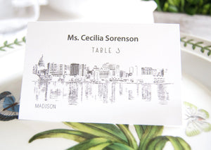 Madison Skyline Folded Place Cards (Set of 25 Cards)