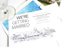 Load image into Gallery viewer, Riviera Palm Springs Destination Wedding Save the Date Cards (set of 25 cards)