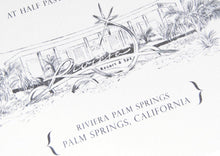 Load image into Gallery viewer, Riviera Palm Springs Destination Wedding Invitation Package (Sold in Sets of 10 Invitations, RSVP Cards + Envelopes)