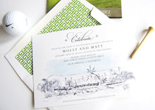 Load image into Gallery viewer, Riviera Hotel Palm Springs Destination Wedding Rehearsal Dinner Invitations (set of 25 cards)