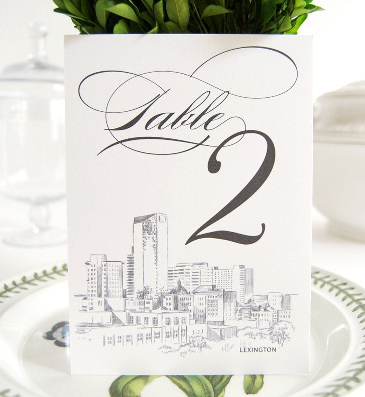 Lexington Skyline Table Numbers (1-10)
