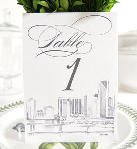 Miami Skyline Table Numbers (1-10)