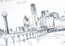 Load image into Gallery viewer, Dallas View with Bridge Skyline Weddings Rehearsal Dinner Invitations (set of 25 cards)