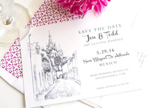 Load image into Gallery viewer, San Miguel, Mexico Skyline Destination Wedding Save the Date Cards (set of 25 cards)