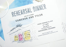 Load image into Gallery viewer, Ace Hotel Palm Springs Rehearsal Dinner Invitations (set of 25 cards)