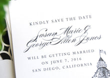 Load image into Gallery viewer, Hotel Del Coronado Hand Drawn Save the Date Cards (set of 25 cards)
