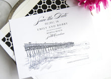 Load image into Gallery viewer, Myrtle Beach, South Carolina Skyline Save the Dates (set of 25 cards)
