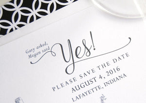 Purdue University, Indiana Skyline Save the Date Cards (set of 25 cards)