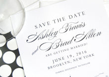 Load image into Gallery viewer, Brooklyn Bridge Skyline Save the Date Cards (set of 25 cards)
