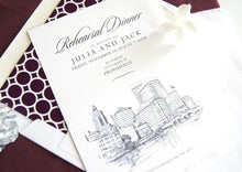 Load image into Gallery viewer, Providence Skyline Rehearsal Dinner Invitations (set of 25 cards)